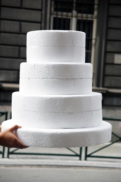 Fabrication de gateau de mariage